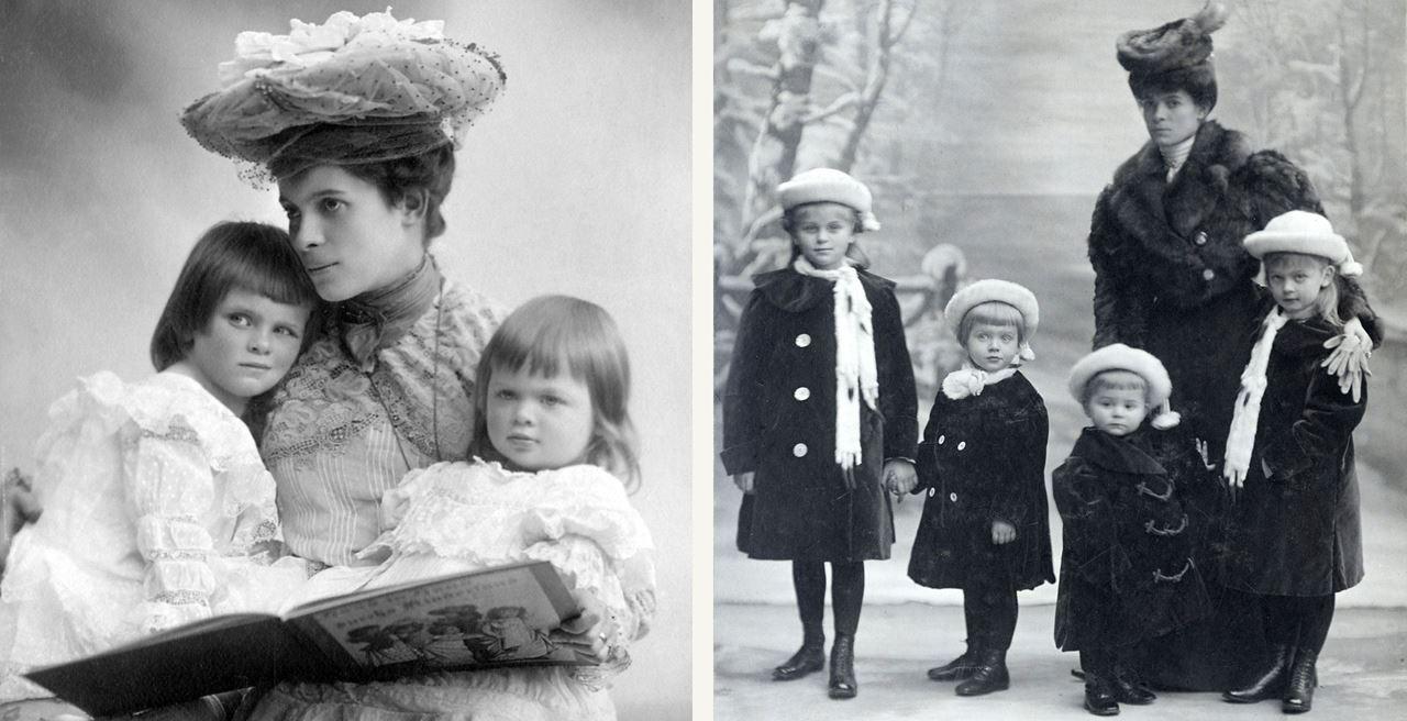 Countess Ottilie bersama anak-anaknya