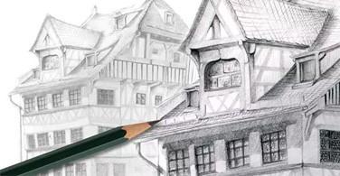 Menggambar Kediaman Duerer dengan Castell 9000