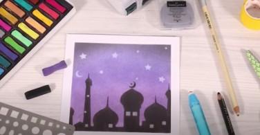 Tutorial Menggambar Masjid dengan Soft Pastel Art