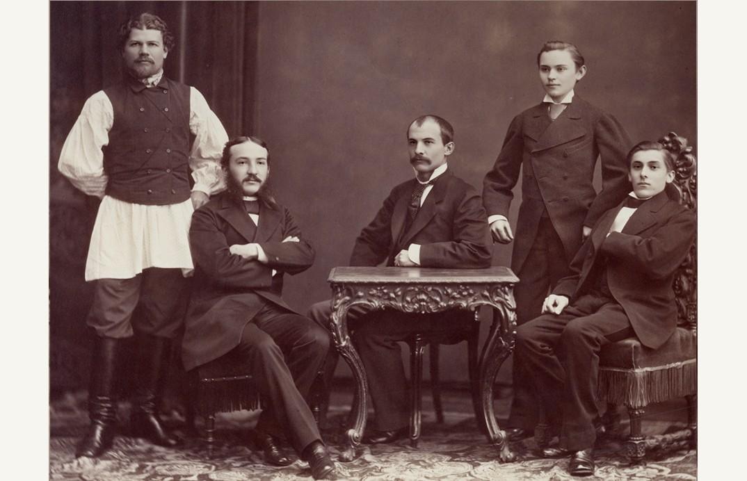 Manajer dan karyawan di agen di St. Petersburg, 1877