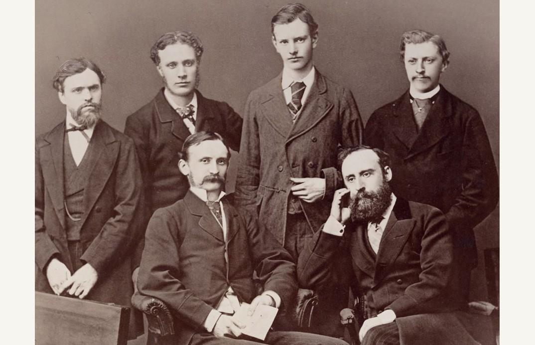 Karyawan di A.W. Tempat bisnis Faber di London, 1877