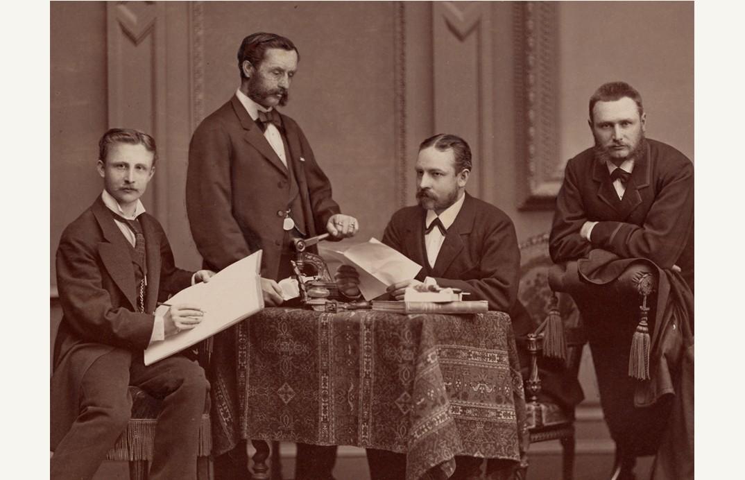 Para karyawan di Wina, 1877