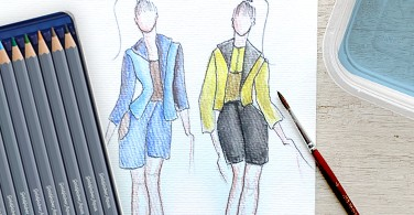 Watercolour on Fashion Croquis