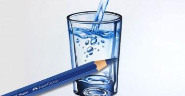 Cara menggambar segelas air dengan Albrecht Durer Magnus
