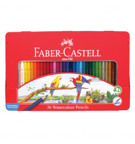 Watercolour pencils in tin case 36L