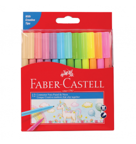 Connector Pen Set-12 Pastel Neon
