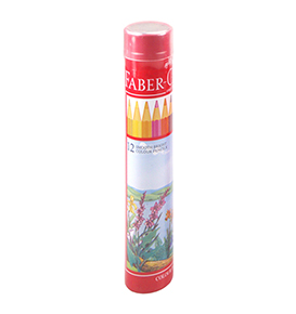 Colour Pencils in Round Tin 12 L