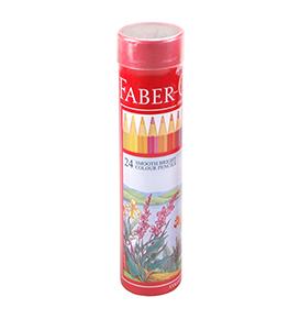 Colour Pencils in Round Tin 24 L