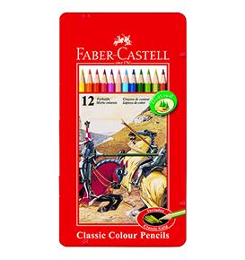 Colour Pencils in Tin Case 12 L