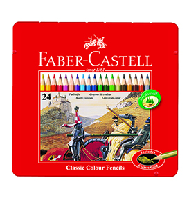 Colour Pencils in Tin Case 24 L