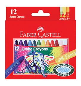 Wax Crayon Jumbo 90mm 12 pcs