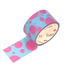 Decorative Paper Tape Polkadot pink tosca