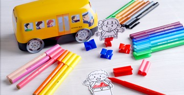 20 Connector Pen School Bus
