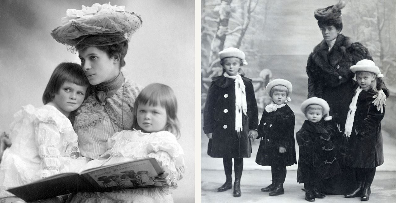 Countess Ottilie with her children