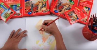 Cara mewarnai Teknik Blending dengan Classic Colour Pencils