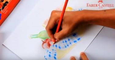 Cara mewarnai teknik shading dengan  Classic Colour Pencil