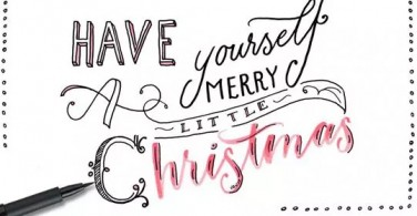 Cara hand lettering have yourself a merry little Christmas