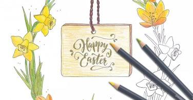 Template mewarnai tema Paskah