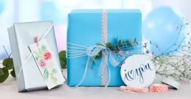 Desain sendiri label hadiah Valentine