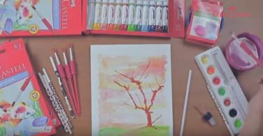 Watercolour Teknik Ink blot