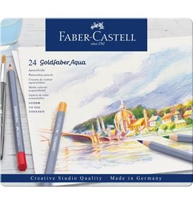 Watercolour pencils Goldfaber Aqua tin of 24