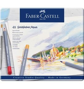 Watercolour pencil Goldfaber Aqua tin of 48