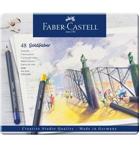 Colour pencil Goldfaber tin of 48