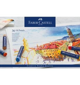 Oil crayons cardboard box of 36