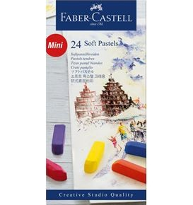 Soft pastels Mini cardboard box of 24