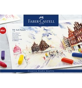 Soft pastels Mini cardboard box of 72