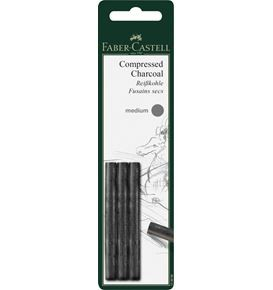 Charcoal stick compressed Pitt medium set of 3