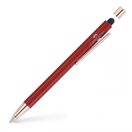 NEO Slim ballpoint pen red, rose gold chrome