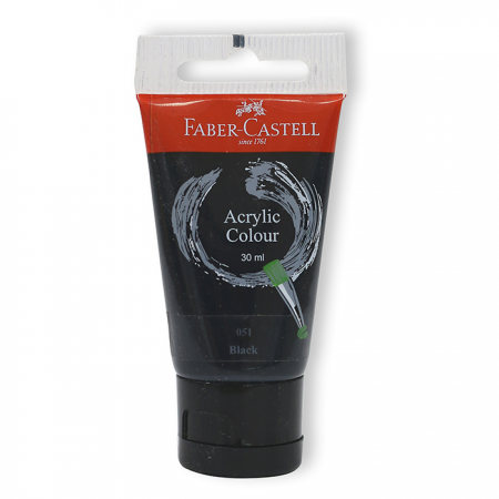 Acrylic Colour 30ml Black