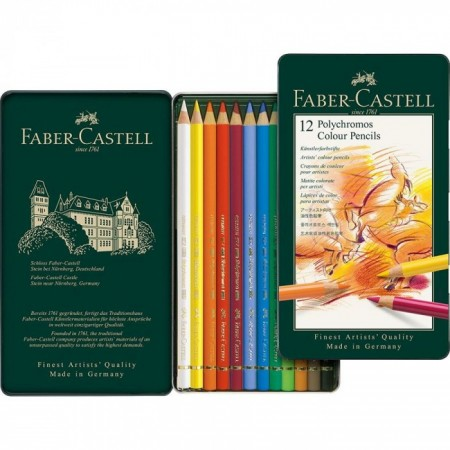 Colour Pencil Polychromos tin of 12