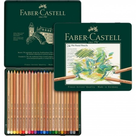 Colour pencil Pitt Pastel tin of 24
