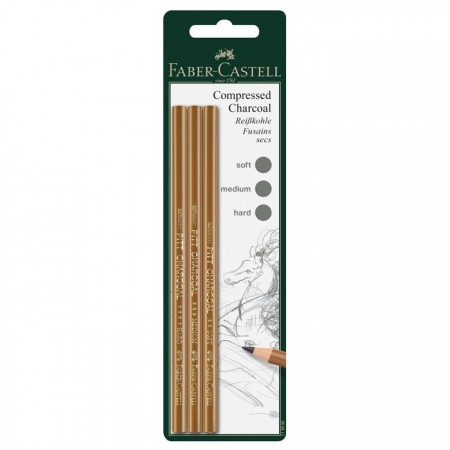 Charcoal pencil Pitt set of 3 (soft, medium, hard)