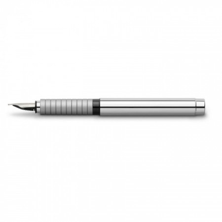 Fountain pen BASIC shiny chrome M